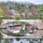 Shelburne Falls Bridge of Flowers Reflection