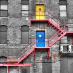Fire Escape Selective Color