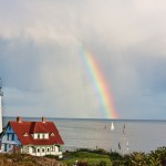 Portland Head Lighthouse Rainbow