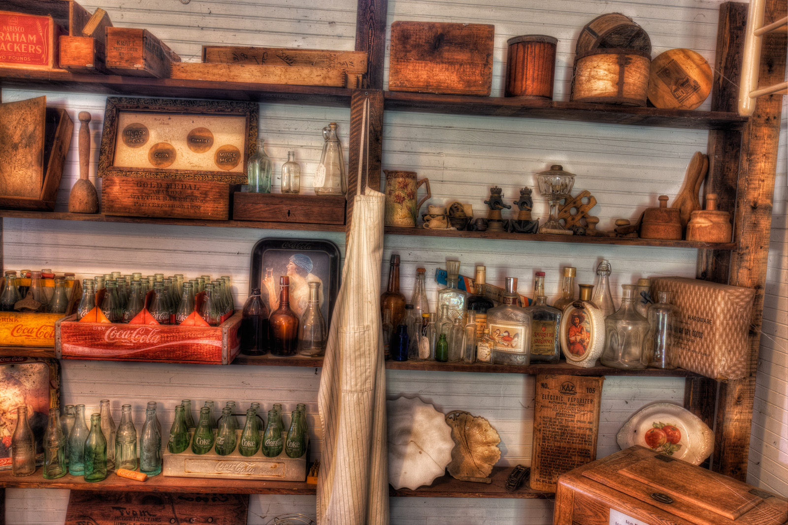 On the Shelves of the General Store