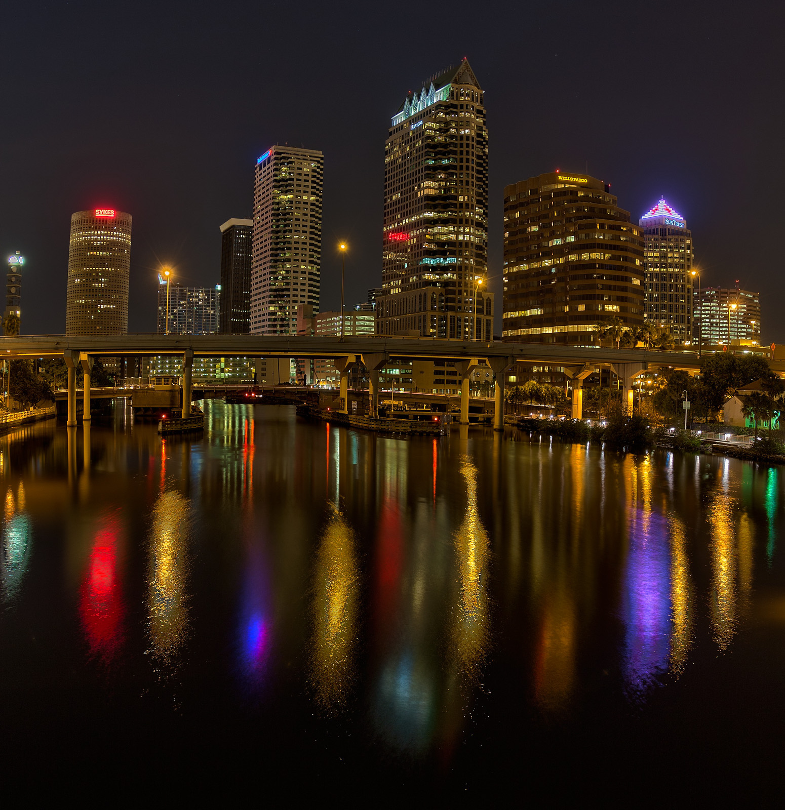 Platt Street Bridge at Night