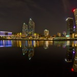 Reflected Downtown Tampa at Night