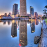 Tampa Reflection and Seawall