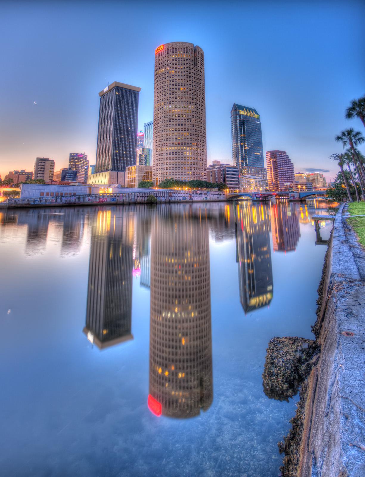 Tampa Reflection and Seawall