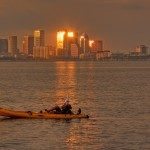 Tampa Kayaker Sunset