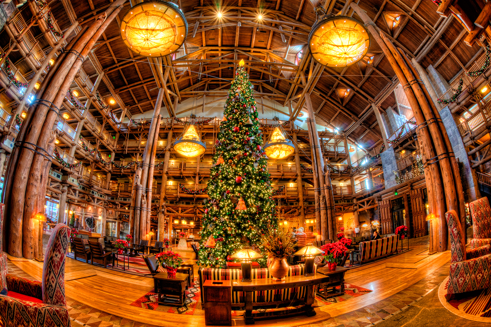 disneys wilderness lodge at christmas