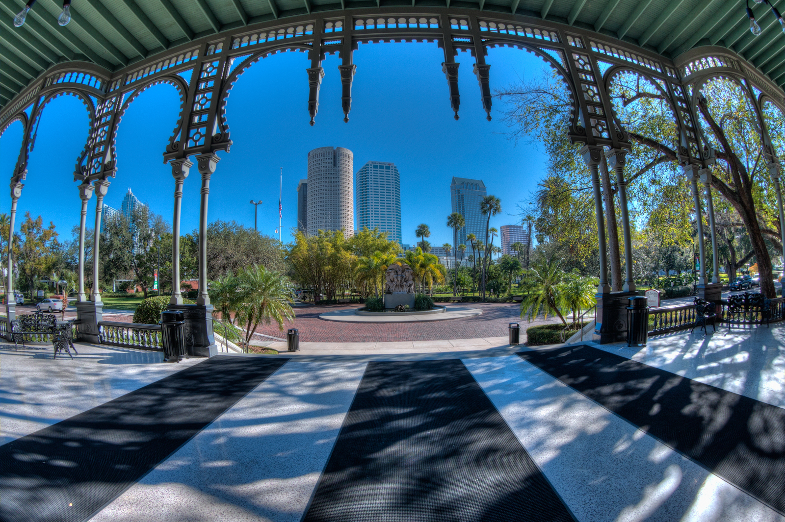 Downtown Tampa from University of Tampa Porch