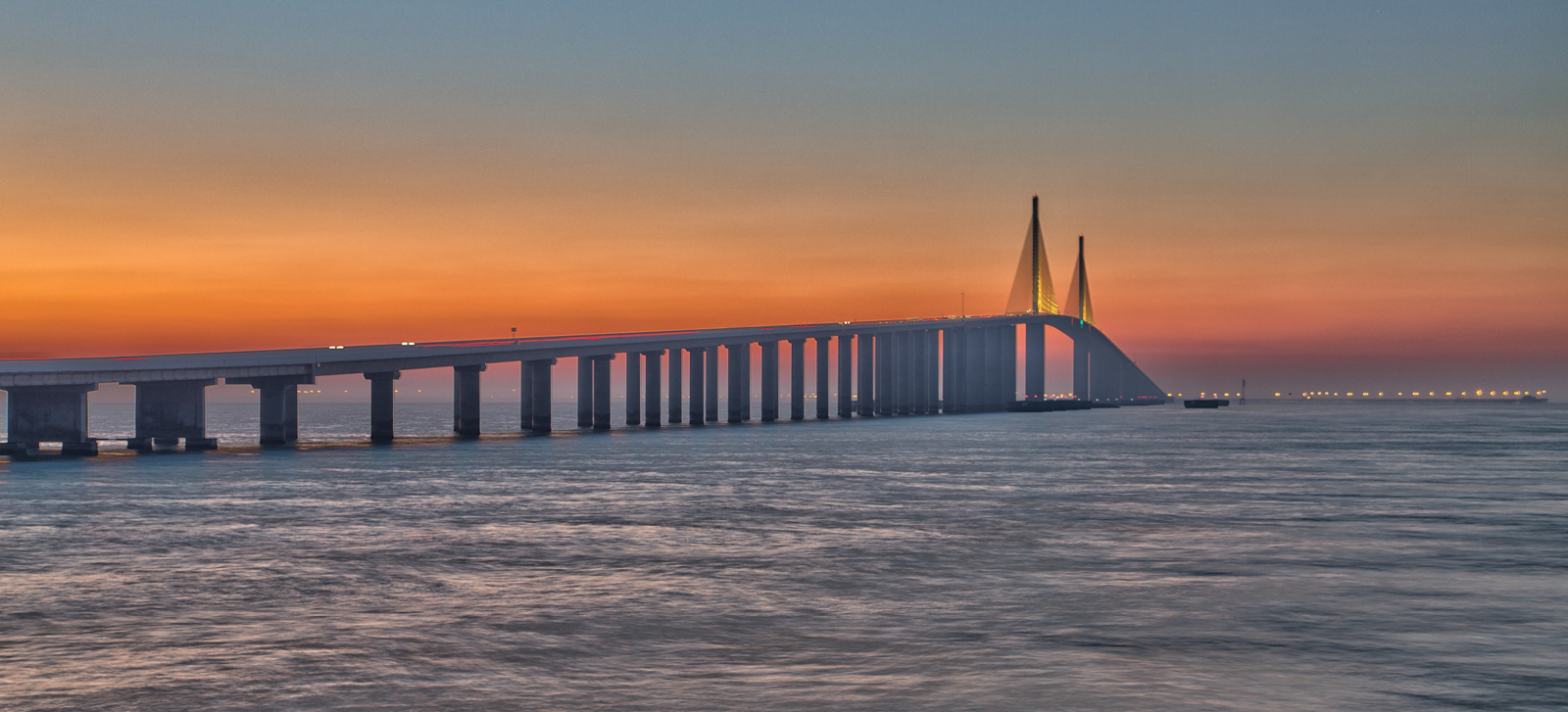 Skyway Sunrise Pano