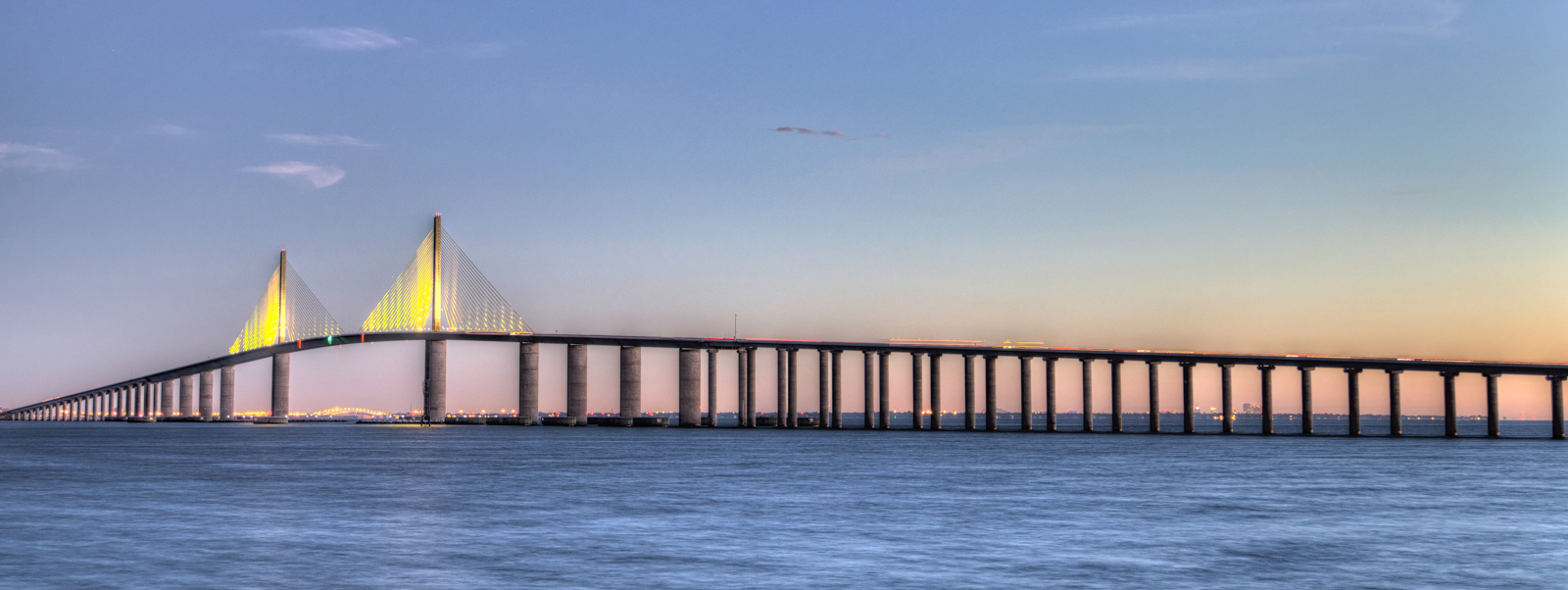 Sunshine Skyway Bridge Pano