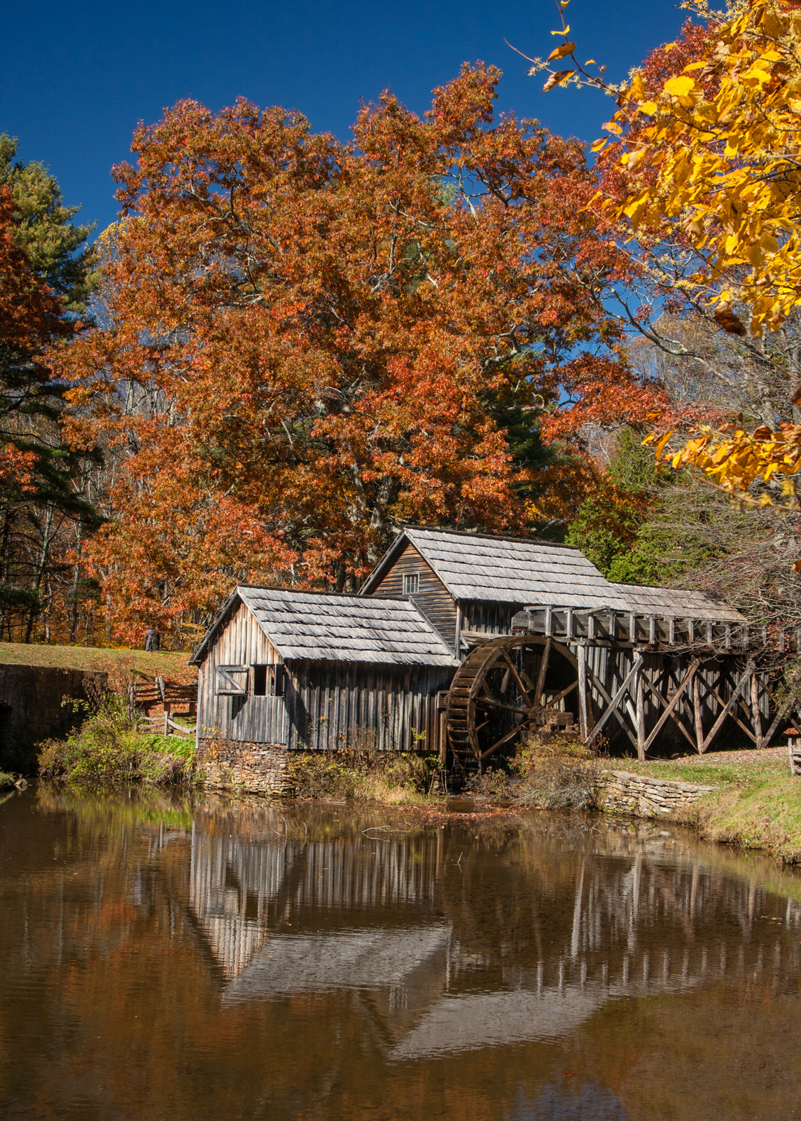 Mabry Mill Fall Reflection