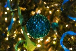 Blue Globe Ornament
