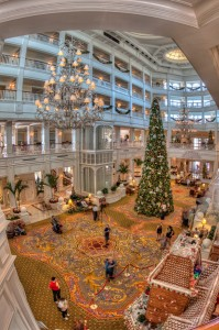 Grand Floridian Lobby from 2nd Level Vertical