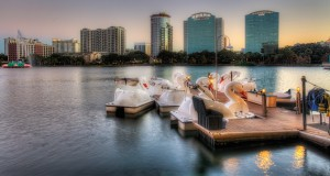 Lake Eola Swanboats and Fountain