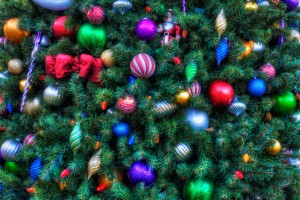Ornaments on Boardwalk Christmas Tree