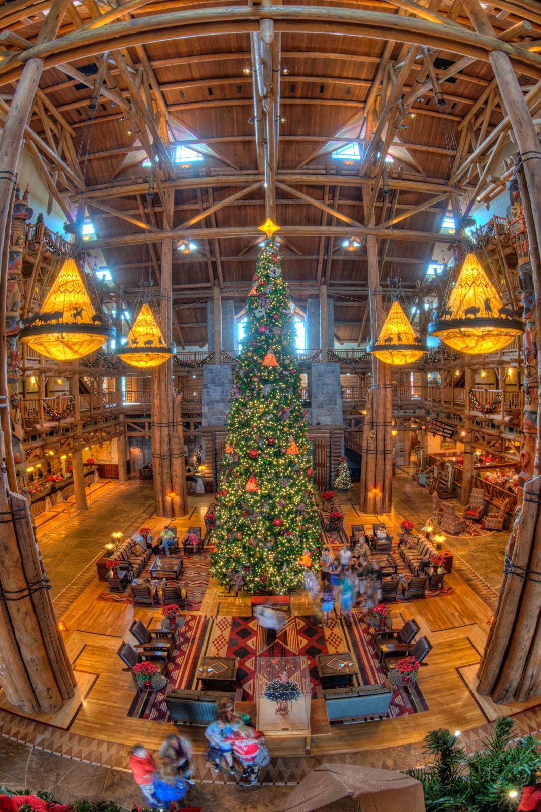 Disney's Wilderness Lodge at Christmas