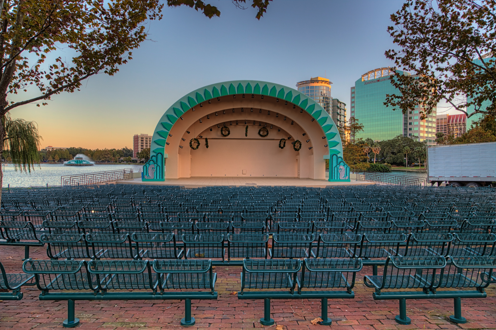 Lake Eola Bandshell and Fountain