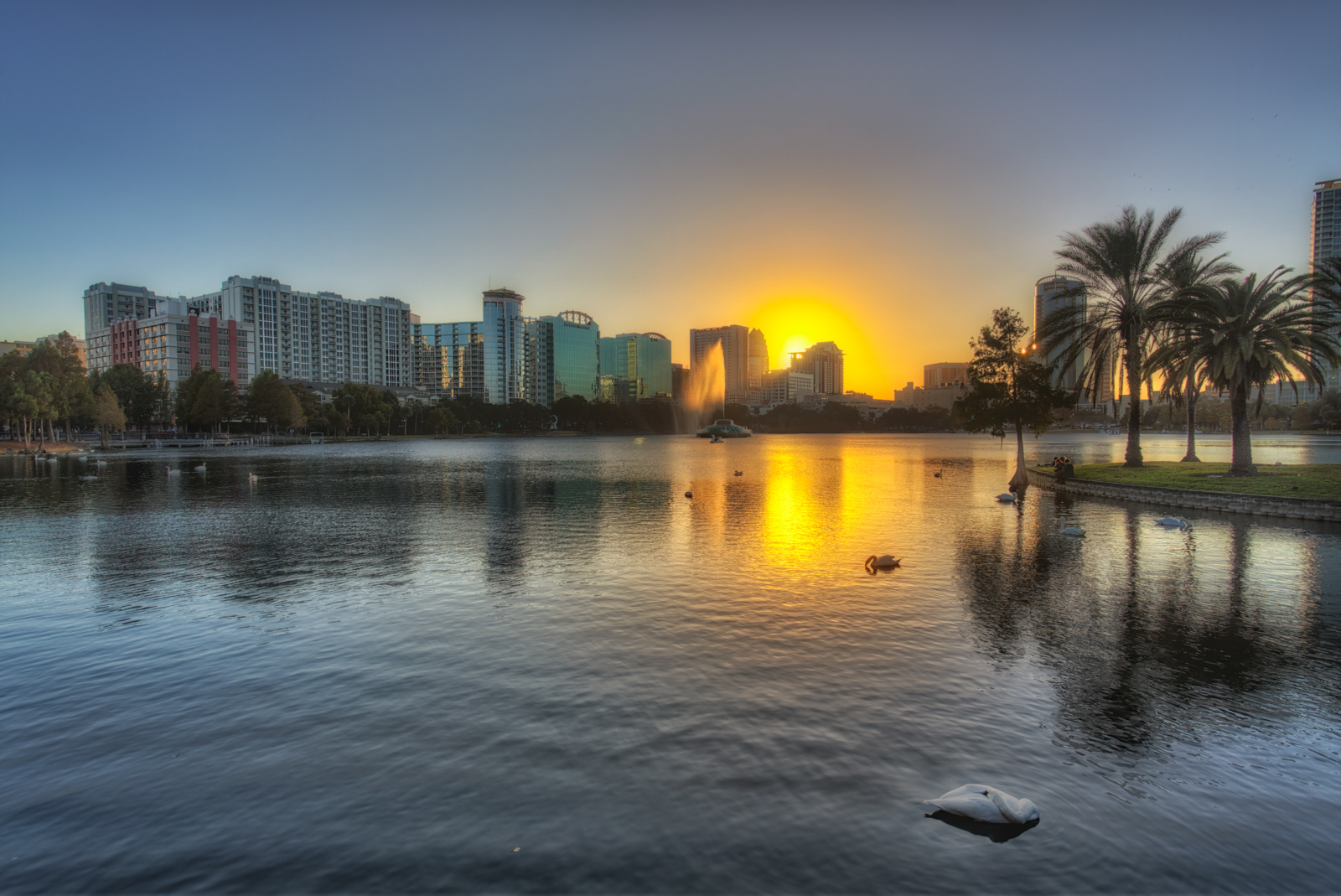 Lake Eola Sunset