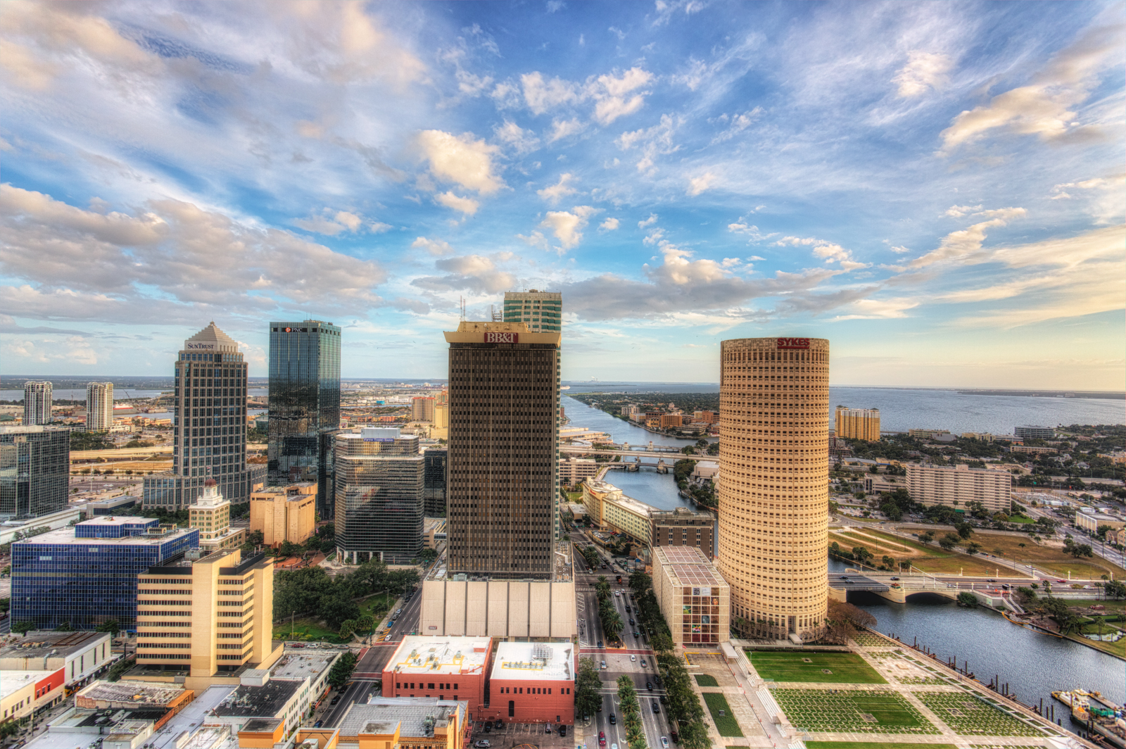 Tampa Skyline and Sky and Element Tampa