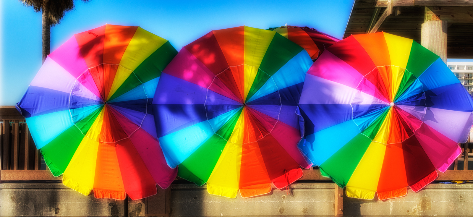 Colorful Umbrellas at Clearwater Beach