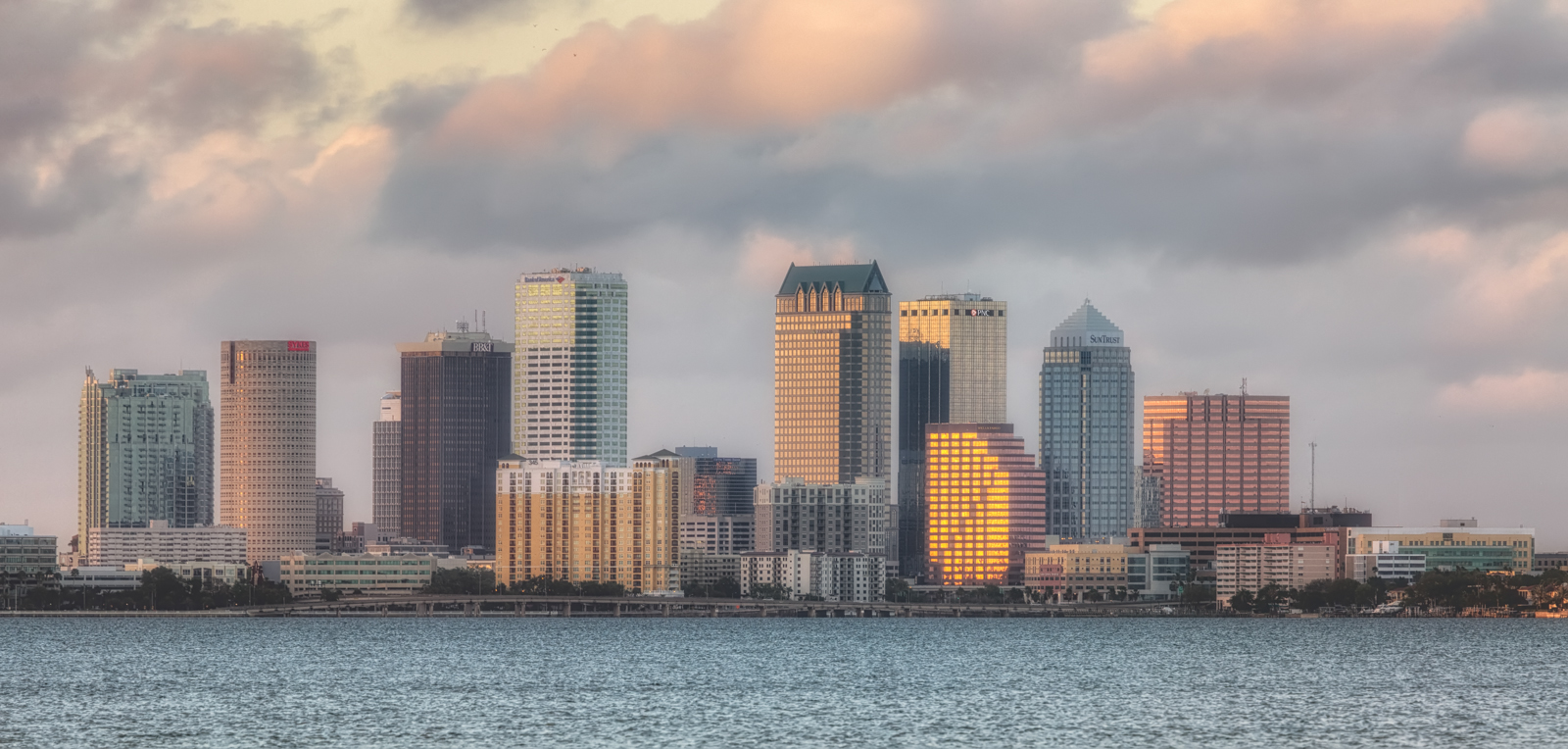 Tampa Skyline from Ballast Point