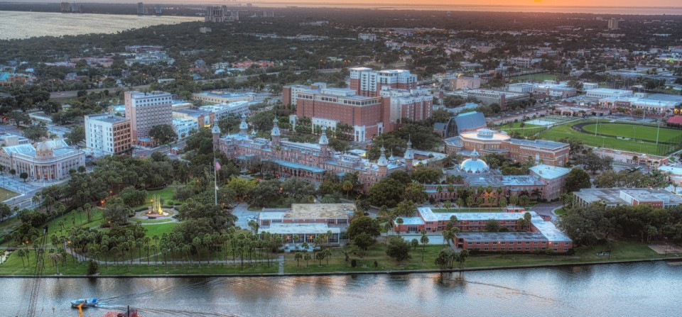 Tampa Sundown over the University of Tampa