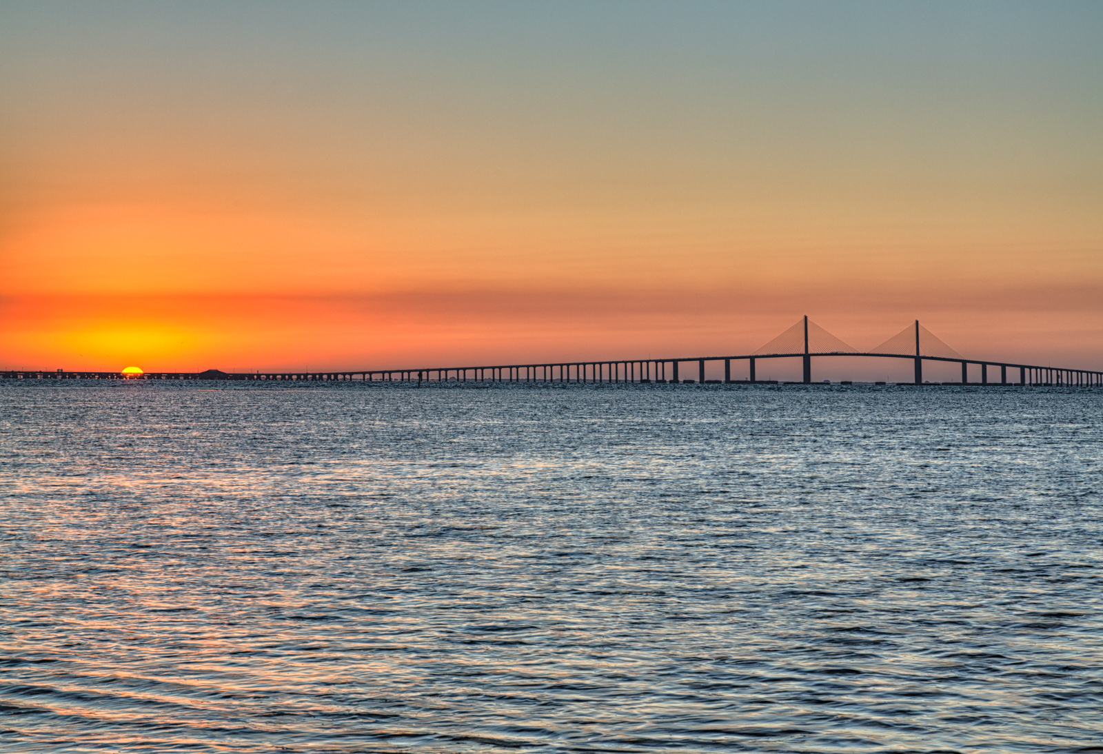 Sunshine skyway bridge sunrise matthew paulson photography for Sunshine skyway fishing pier