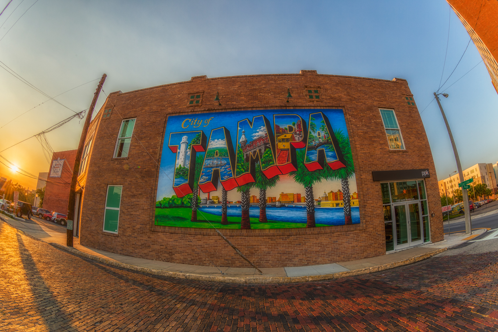 Tampa Postcard Mural by Carl Cowden III
