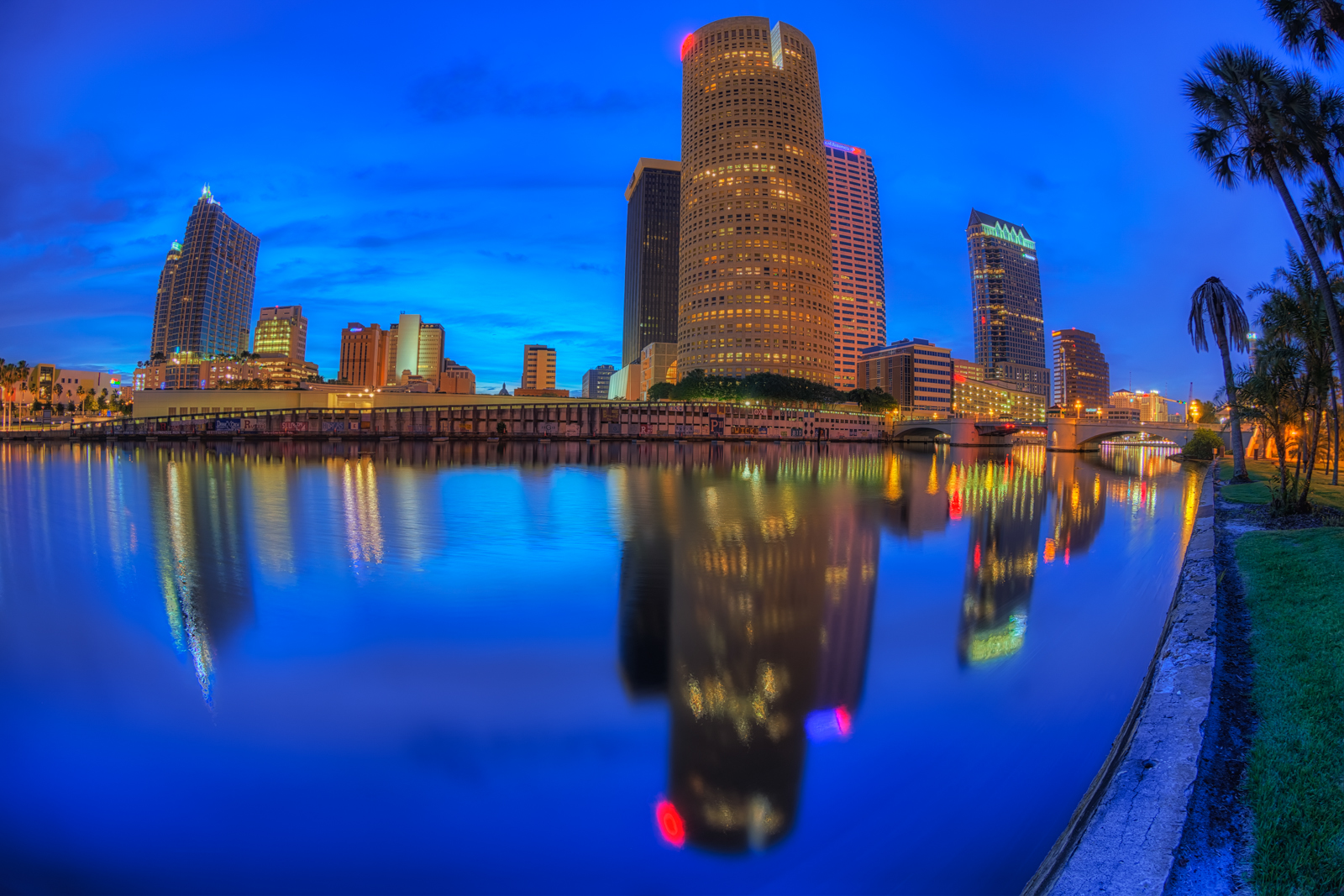 Hillsborough River Reflection of Downtown Tampa