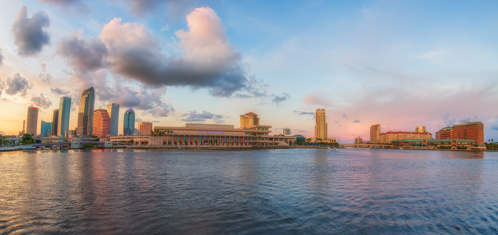Tampa Skyline and Harbour Island Panorama