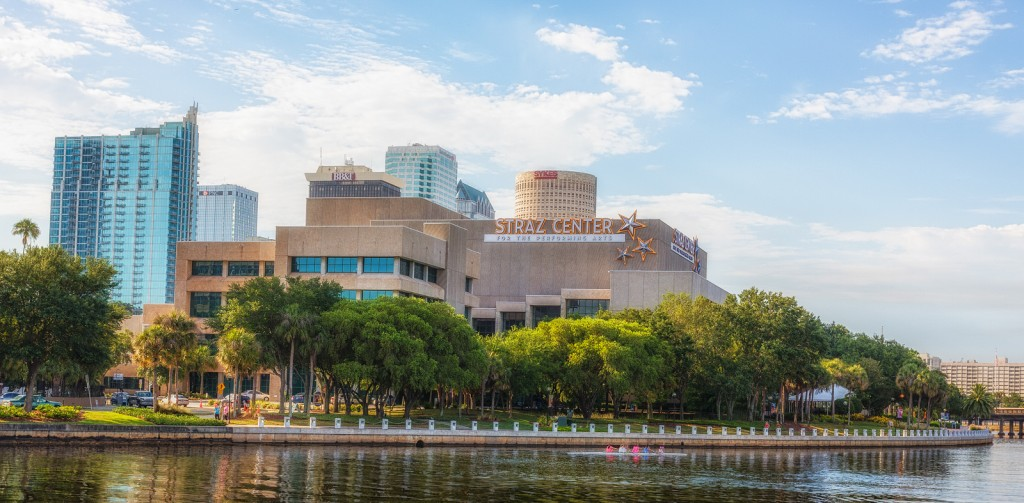 Straz Center and Tampa Riverwalk