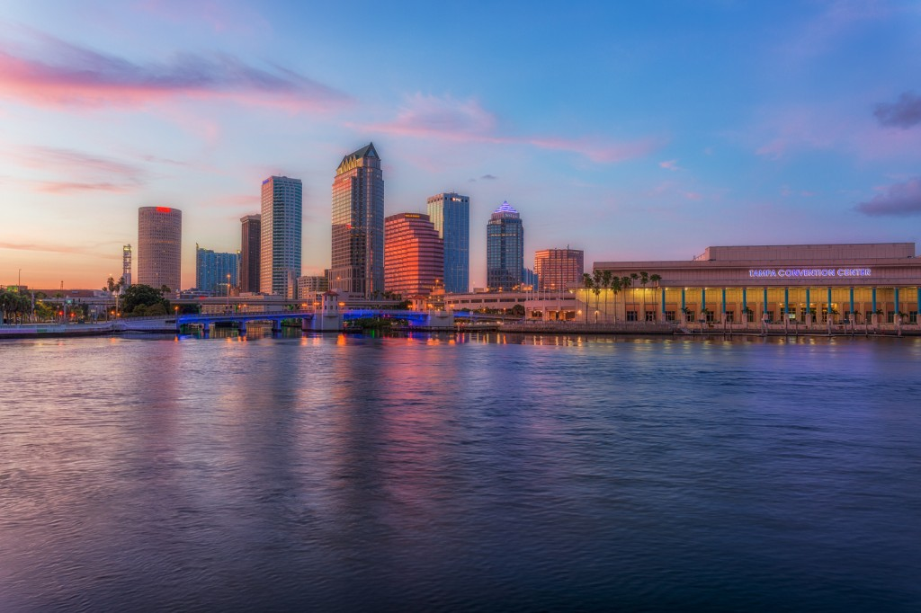 Tampa Skyline Getting Colorful