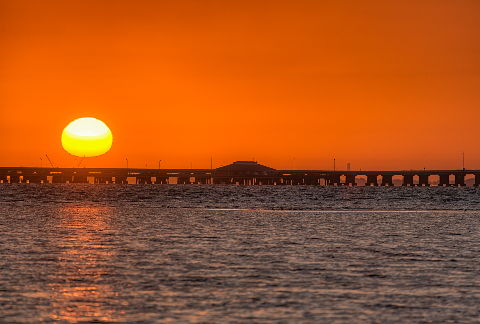 Ball O Sun over Skyway Fishing Pier