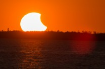 Two shots from the partial solar eclipse