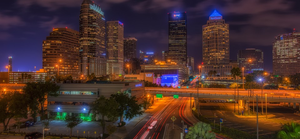 Tampa from Amalie Arena Garage