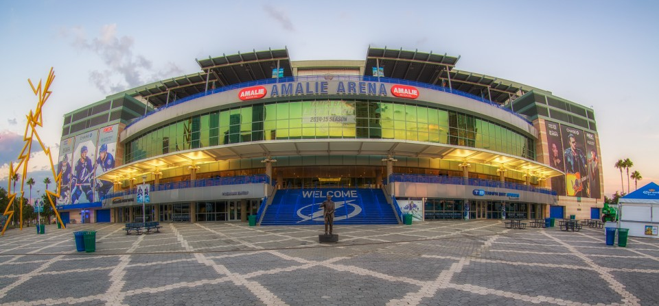 Amalie Arena and Univeristy of Tampa