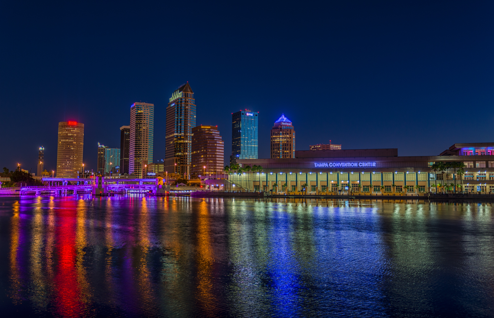 Bayshore Sunrise and Tampa Skyline