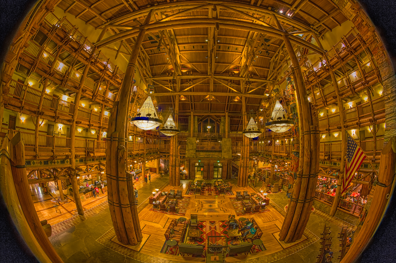 Wilderness Lodge Towards the Entrance
