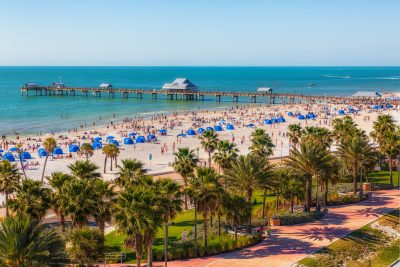 Clearwater Beach Spring Break from Above Updated Again