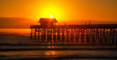 Cocoa Beach Pier Orange Burn