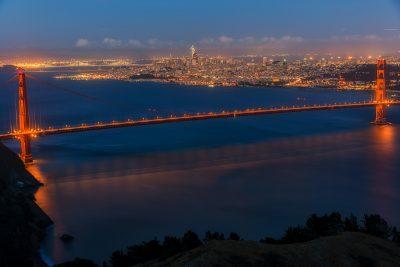 Golden Gate Bridge and San Francisco Full Span