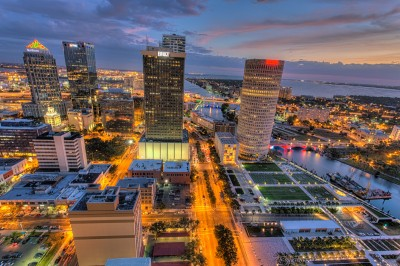Tampa in Technicolor from Above