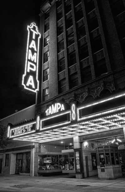 Tampa Theater Black and White