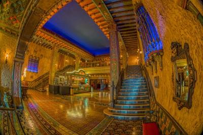 Tampa Theatre Lobby Fisheye Merge Detail