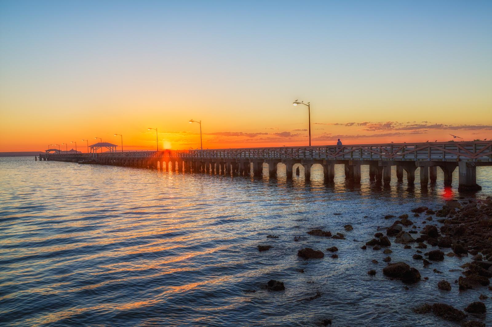 Ballast Point Park Pier Sun Flare