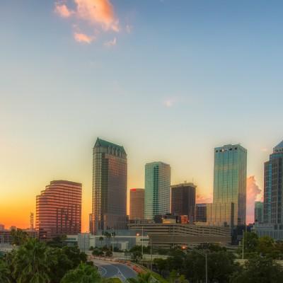 Tampa Pano Sunset, Tampa, Florida