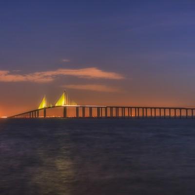 Sunshine Skyway Bridge Dawn 3_14, St Petersburg, Florida