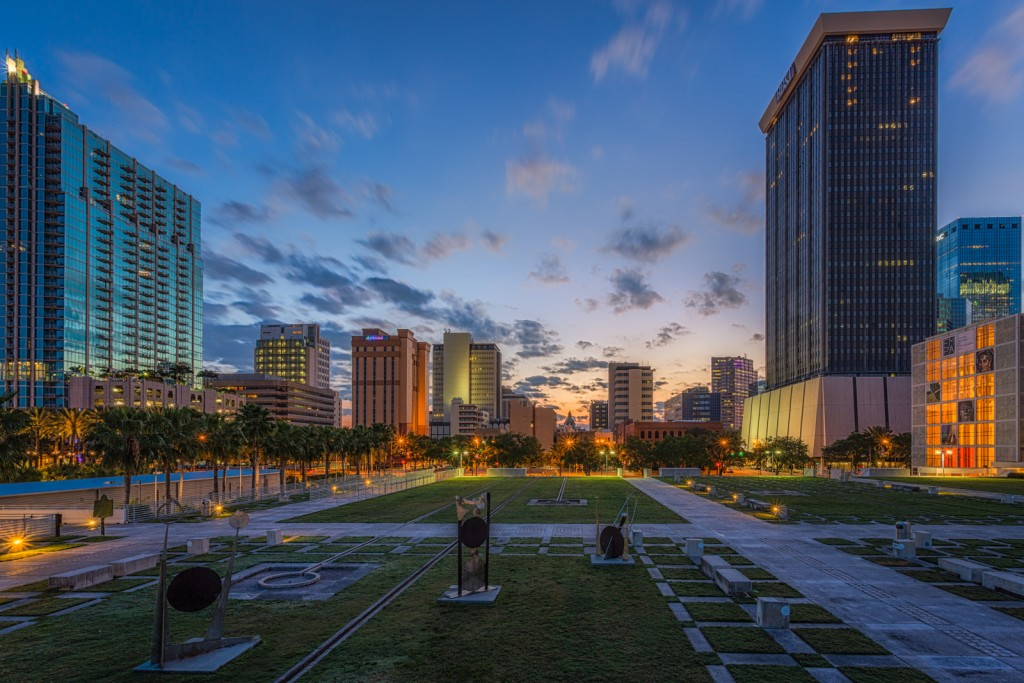 Tampa Skyline Tight Reflection 4_3_15, Tampa, Florida
