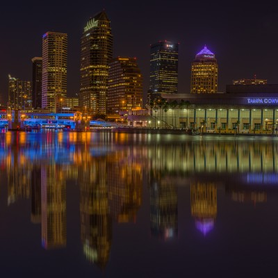 Tampa Skyline Tight Reflection 4_3_15, Tampa, Florida