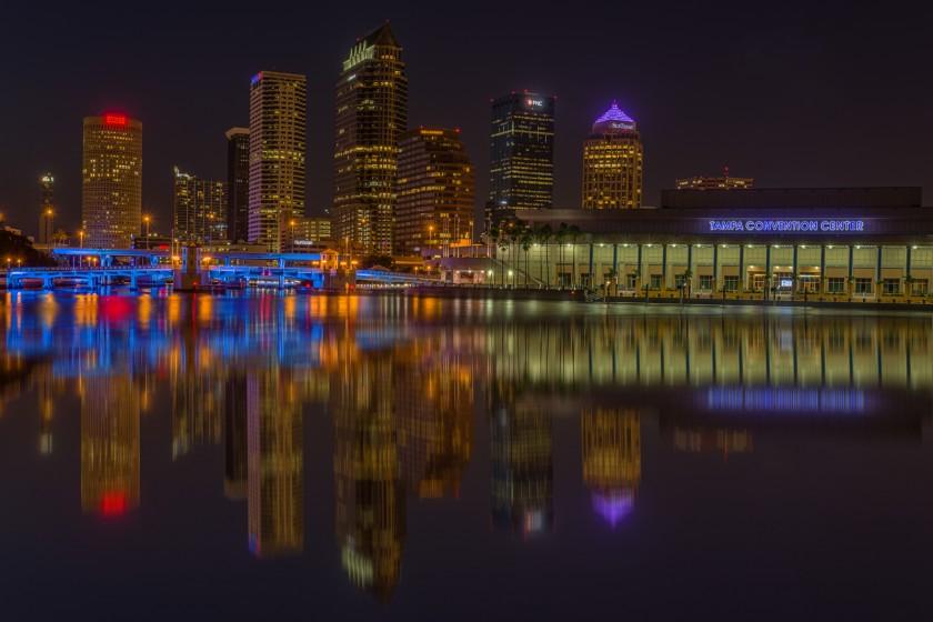 Tampa Sunrise and Night