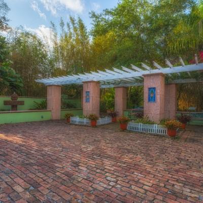 Courtyard at Florida Botanical Gardens - Largo, Florida